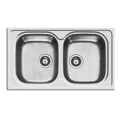 Lavello da incasso Amaltia 86 x 50 cm 2 vasche