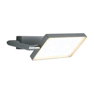 Applique moderno Book LED integrato grigio, in alluminio, 10x22.5 cm,