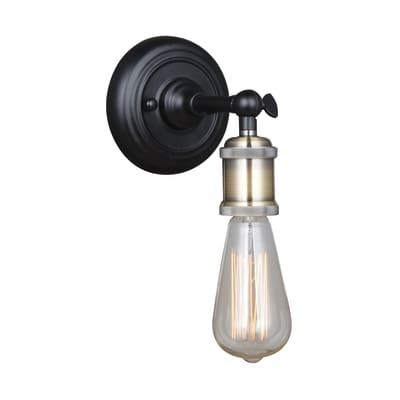 Applique Braccio alluminio/ottone, in metallo, 15 cm, E27 MAX60W IP20 INSPIRE