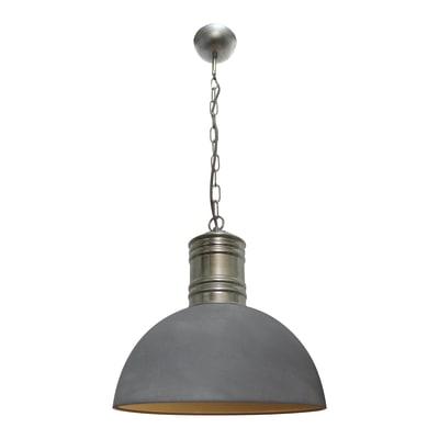 Lampadario Frieda grigio, in metallo, diam. 41 cm, E27 MAX60W IP20 BRILLIANT