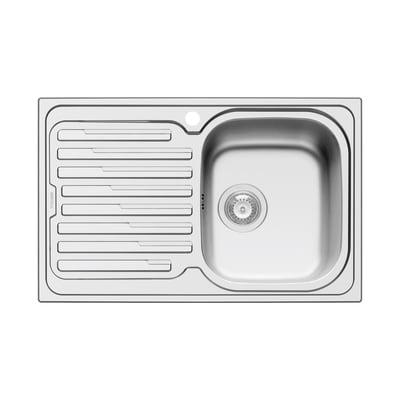Lavello da incasso Amaltia 79 x 50 cm 1 vasca con gocciolatoio