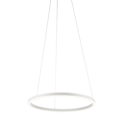 Lampadario Hurricane bianco, in alluminio, diam. 60 cm, LED integrato 38W 1870LM IP20