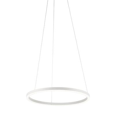 Lampadario Moderno Hurricane LED integrato bianco, in alluminio, D. 60 cm