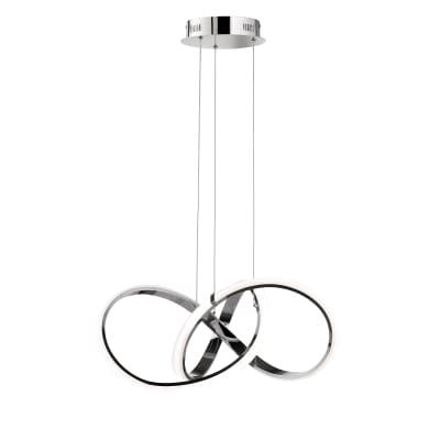 Lampadario Indigo bianco, in metallo, LED integrato 44W 4400LM IP20 WOFI