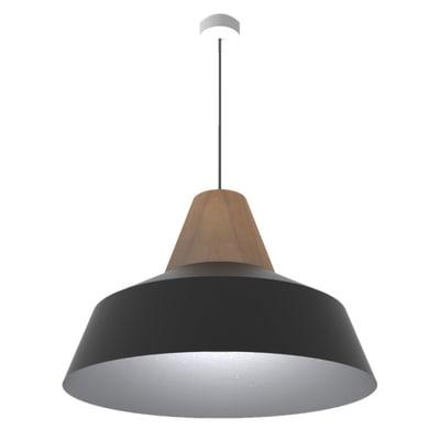 Lampadario Kon nero, in metallo, diam. 50 cm, E27 MAX53W IP20 LUMICOM