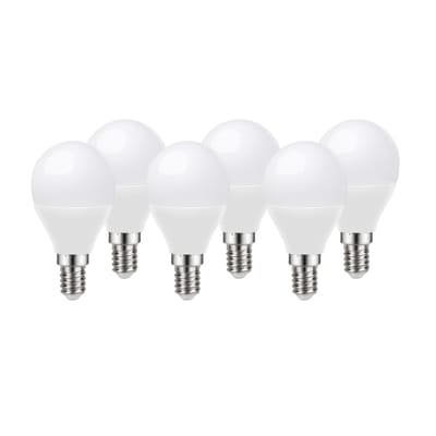 Set di 6  lampadine LED, E14, Sferico, Opaco, Luce calda, 8W=806LM (equiv 60 W), 220° , LEXMAN
