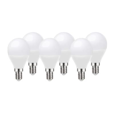 Set di 6  lampadine LED, E14, Sferico, Opaco, Luce naturale, 8W=806LM (equiv 60 W), 220° , LEXMAN