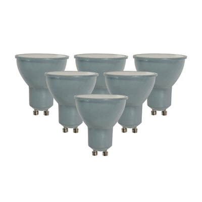 Set di 6  lampadine LED, GU10, Faretto, Smerigliato, Luce naturale, 6W=450LM (equiv 50 W), 100° , LEXMAN
