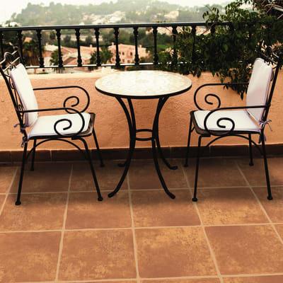 Piastrella Reunion 35.8 x 35.8 cm sp. 9.4 mm PEI 4/5 terracotta
