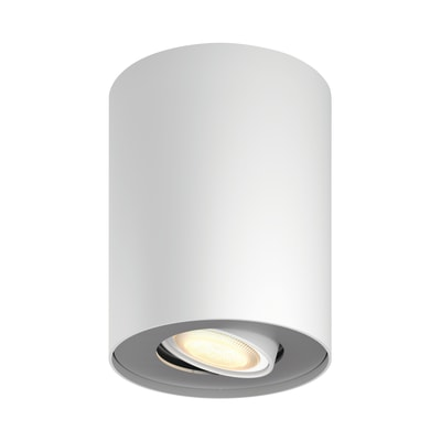 Faretto singolo Pillar bianco, in metallo, LED integrato 5.5W 250LM IP20 PHILIPS HUE