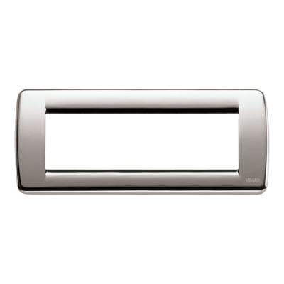 Placca VIMAR Idea 6 moduli nichel spazzolato