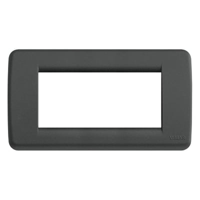 Placca VIMAR Idea 4 moduli nero satinato