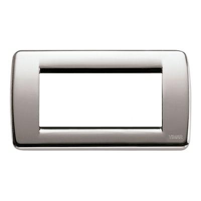 Placca VIMAR Idea 4 moduli nichel spazzolato