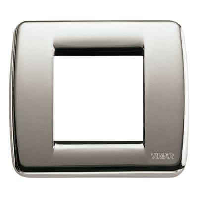 Placca VIMAR Idea 2 moduli nichel spazzolato
