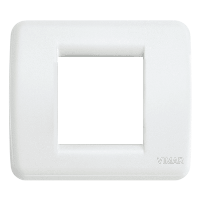 Placca VIMAR Idea Rondò 2 moduli bianco brillante