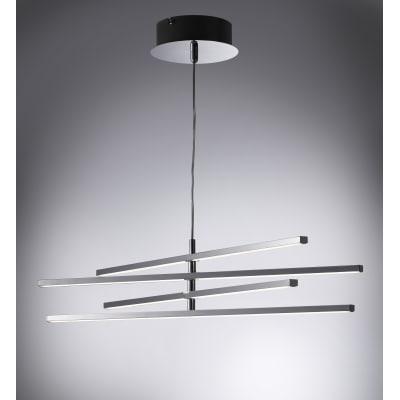 Lampadario Concord cromo, in ferro, diam. 60 cm, LED integrato 20W 1600LM IP20 INSPIRE