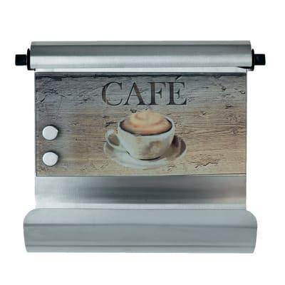 Porta rotolo carta assorbente adesivo WENKO Caffè in vetro temprato