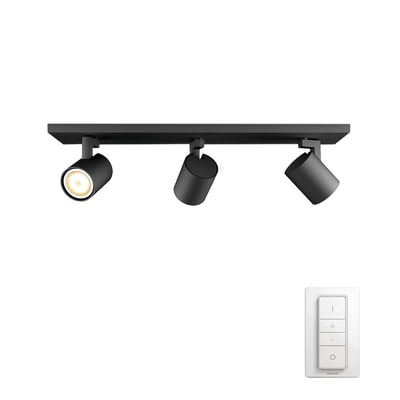 Barra di faretti Runner nero, in metallo, GU10 3x5.5W IP20 PHILIPS HUE