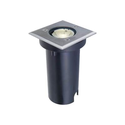Faretto da incasso da esterno quadrato Otaki LED integrato in acciaio inossidabile, inox,  diam. 6.7 cm 6.7x11.7cm 1W 50LM IP67 INSPIRE