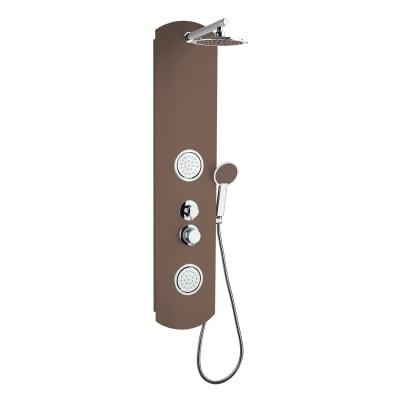 Colonna doccia idromassaggio Colors 2 con miscelatore meccanico tortora 2 getti