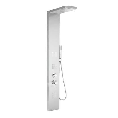 Colonna doccia idromassaggio Manhattan con miscelatore meccanico argento 3 getti