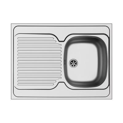 Lavello da appoggio Kama 80 x 60 cm 1 vasca con gocciolatoio