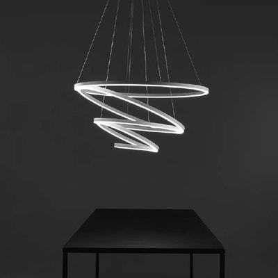 Lampadario Hurricane bianco, in alluminio, diam. 100 cm, LED integrato 175W 6400LM IP20