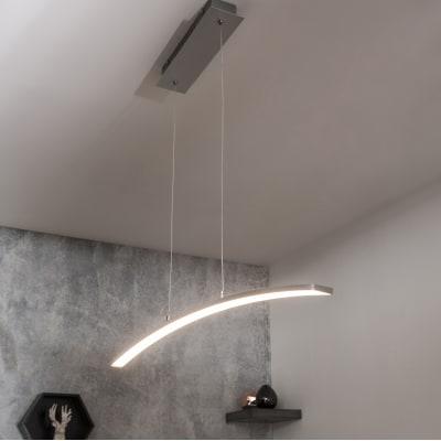 Lampadario Moderno Muda LED integrato cromo, in alluminio, L. 90.0 cm, INSPIRE
