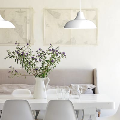 Lampadario Parigina bianco, in metallo, diam. 35 cm, E27 MAX53W IP20 LUMICOM
