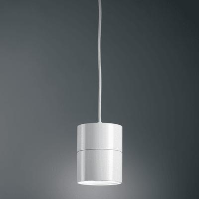 Lampadario Suspence bianco, in alluminio, diam. 7.5 cm,  LED 1 luce