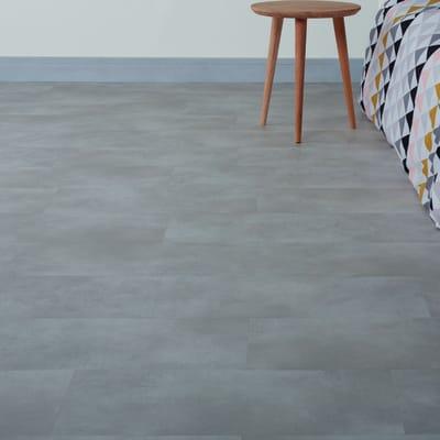 Pavimento pvc flottante clic+ Light grey Sp 4 mm grigio / argento