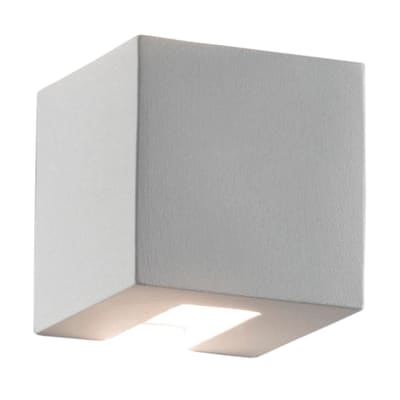 Applique Cubo bianco, in ceramica, 11x11 cm, G9 MAX48W IP20