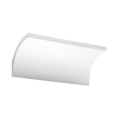 Applique design Foil LED integrato bianco, in alluminio, 20x20 cm,