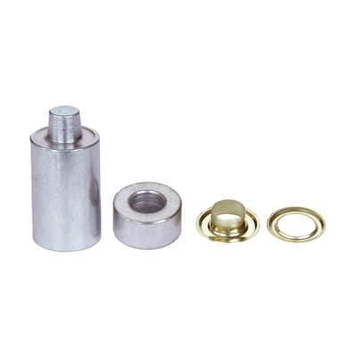 Occhielli KIT 50 OCCHIELLI 6 + ATTREZZI DI POSA in acciaio L 0 x H 0 mm 50 pezzi
