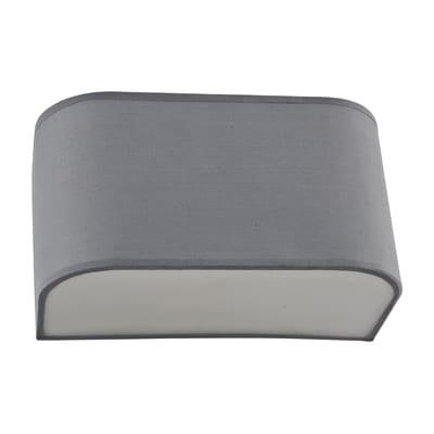 Applique moderno Manon grigio, in cotone, 23x12 cm, INSPIRE