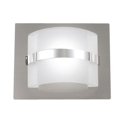 Applique Niside nickel, in metallo, 13x15.5 cm, LED integrato 5W