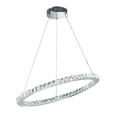 Lampadario Melody grigio, in metallo, diam. 70 cm,  LED 1 luce