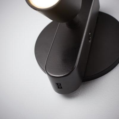 Faretto completo Flut nero, in ferro, LED integrato 9W 880LM IP20 INSPIRE