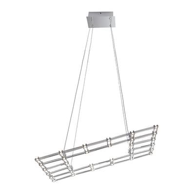 Lampadario Moles alluminio, in acrilico,  LED 1 luce