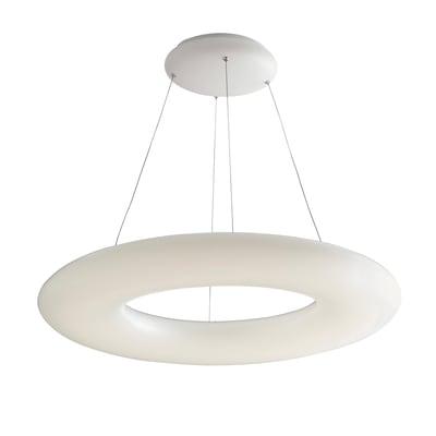 Lampadario Mylion bianco, in acrilico, diam. 75 cm, LED integrato 60W 6400LM IP20