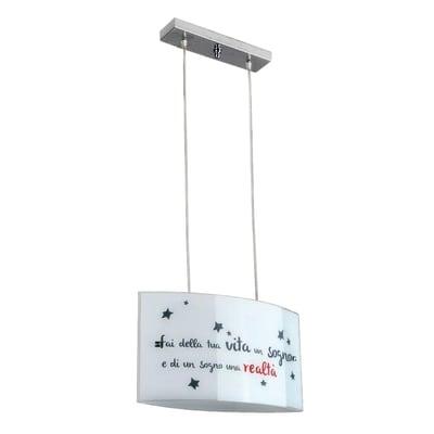 Lampadario Realtà bianco, in metallo, E27 2xMAX42W IP20