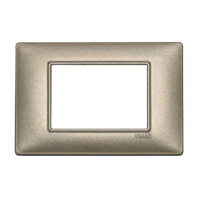 Placca VIMAR Plana 3 moduli bronzo metallizzato