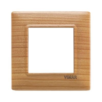 Placca VIMAR Plana 2 moduli ciliegio