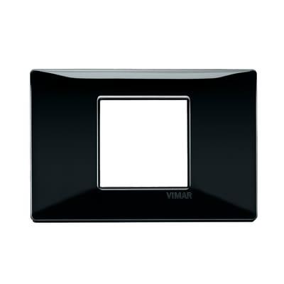 Placca VIMAR Plana 2 moduli nero