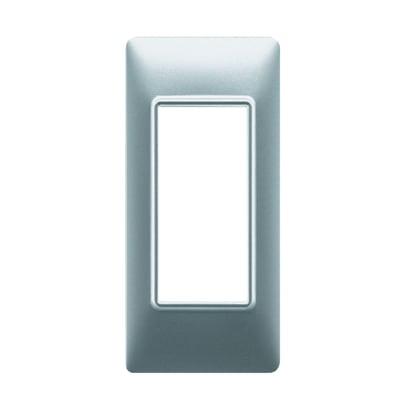 Placca VIMAR Plana 1 modulo argento opaco