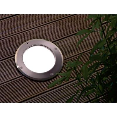 Faretto da incasso da esterno tondo Slim LED integrato in acciaio, grigio metallizzato, 1W 24LM IP67