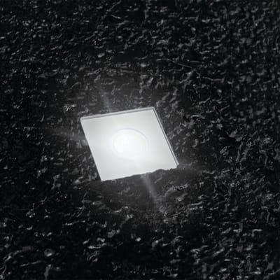 Faretto da incasso da esterno quadrato Slim LED integrato 1W 24LM 1 x IP67