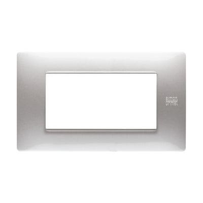 Placca SIMON URMET Nea Flexa 4 moduli alluminio