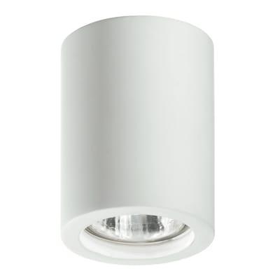 Plafoniera design Space bianco, in gesso,  D. 7 cm 7x7 cm,