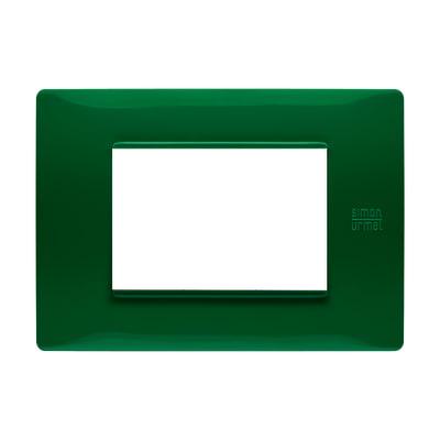 Placca SIMON URMET Nea Flexa 3 moduli verde